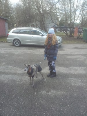 Helmi-Nelle and her dog Sonja