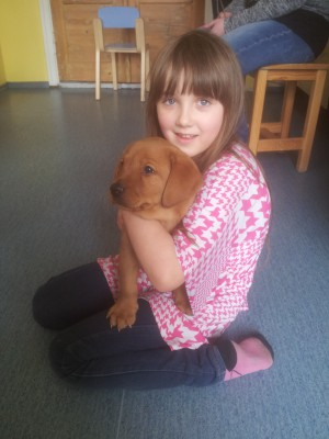 Tiitu with her new puppy.