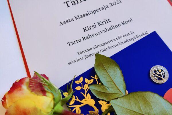 Tartu Class Teacher 2021